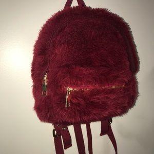 Mini dark red backpack 🎒
